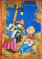 Auguri Buon Natale  Bambini Musicisti   Cartolina - Non Classificati