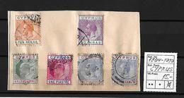 1904 - 1910 CYPRUS → 6 Nice Stamps - Chypre (République)