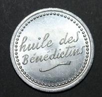 """Rare Jeton De Nécessité """"Demi-jeton Prime / Huile Des Bénédictins"""" Vinaigrerie à Seclin - Nord - Lille - Emergency Token - Monetary / Of Necessity"""
