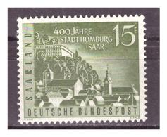 SAAR/SARRE -  1958 - 400 ANNI CITTA' DI HOMBURG. -  MNH** - 1957-59 Federazione