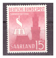 SAAR/SARRE -  1958 - FIERA INTERNAZIONALE DELLA SAAR. -  MNH** - 1957-59 Federazione