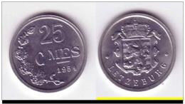 LUXEMBOURG 25 CENTIMES 1954 - Luxembourg