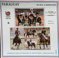 Paraguay 1988 Summer Olympics,Seoul S/S - Paraguay