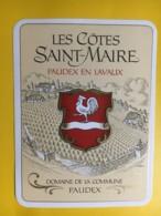9000- Les Côtes De Saint-Maire Cuvée Du Président  De La Confédération Jean-Pascal Delamuraz 24.06.1989 - Etiketten