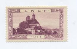 FOIX (Ariège) / Vignette SNCF / RARE - Publicités