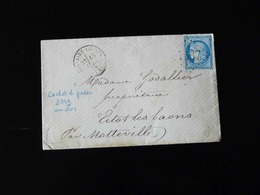 LETTRE DE FONTAINE LE DUN POUR ECTOT LES BAONS  -  1873  - - Storia Postale