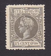 Cuba, Scott #169, Mint Hinged, King Alfonso XIII, Issued 1898 - Cuba (1874-1898)