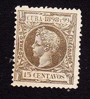 Cuba, Scott #169, Mint No Gum, King Alfonso XIII, Issued 1898 - Cuba (1874-1898)