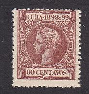 Cuba, Scott #173, Mint Hinged, King Alfonso XIII, Issued 1898 - Cuba (1874-1898)