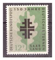 SAAR/SARRE -  1958 - 150° ANNIV. SOCIETA' GINNASTICA. -  MNH** - 1957-59 Federazione
