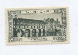 CHENONCEAUX (Indre Et Loire) / Vignette SNCF / RARE - Publicités
