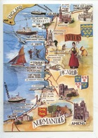 Littoral Nord (n°5 Artaud Cp Vierge) Géographique Dieppe Amiens Calais Dunkerque Malo Touquet - Maps