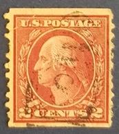1914-1916 George Washington, United States Of America, USA, Used - United States