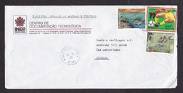Guinea-Bissau: Cover To Netherlands, 1991, 3 Stamps, World Cup Soccer, Football, Fish, Rare Real Use (minor Creases) - Guinea-Bissau