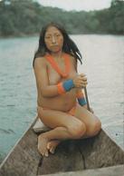 CPSM GUYANE N° 511 Indienne Wayana En Pirogue Indian Erotisme Nude Nu Ethnologique Nu Féminin Eros Curiosa Risque - Guyane