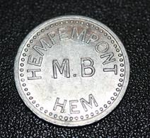 """Monnaie De Nécessité - Jeton De Pain """"1 Ristourne - M.B. Meunerie Boulangerie De L'Hempempont - Hem"""" Villeneuve D'Ascq - Monetary / Of Necessity"""