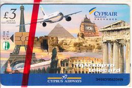 CYPRUS - Monuments, Cyprus Airways, Chip GEM3.3, 02/01, Mint - Cyprus