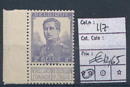 BELGIQUE COB 117 MNH - 1912 Pellens