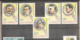 San Marino - Serie Completa Nuova: Investigatori Della Letteratura - 1979 * G - Saint-Marin