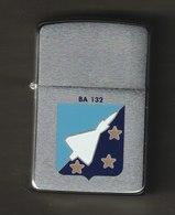 ZIPPO - B A 132 -  Chromé Brossé  1989 - Réf, 744 - Zippo