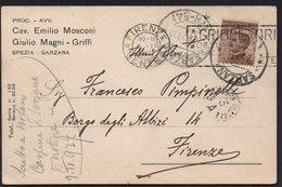 ITALY ITALIA ITALIEN 1927. POSTCARD CARTOLINA, SARZANA FIRENZE - Otros