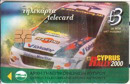 CYPRUS - Cyprus Rally 2000, Chip GEM3.3, Tirage %80000, 09/00, Mint - Cyprus
