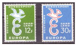 SAAR/SARRE -  1958 - EUROPA. SERIE COMPLETA. UN VALORE CON DIFETTO. -  MNH** - 1957-59 Federazione