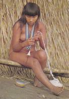 CPSM GUYANE Indien De L' Amazone Indian Erotisme Nude Nu Ethnologique Nu Féminin Eros Curiosa Risque - Guyane