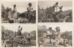 7 CPA:CARNAVAL DE NICE (06) JULOT ET TITINE,MADAME ET SON DANSEUR,L'AMOUR BLESSÉ,ROMÉO ET JULIETTE,LA POULE D'HENRI IV - Carnaval