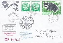TAAF219 - Lot De 5 Lettres Martin De Vivies Et Port Aux Français - Französische Süd- Und Antarktisgebiete (TAAF)