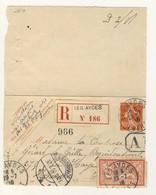 (C15) - SEMEUSE CARTE LETTRE N°135 OU 138-CLx + MERSON 119 RECOMMANDEE LES AYDES LOIRET =>PAYS BAS 1910 TARIF 01/05/1910 - France