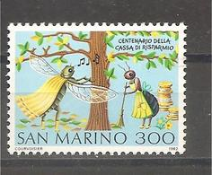 San Marino - Serie Completa Nuova: Centenario Della Cassa Di Risparmio - 1982 * G - Unused Stamps