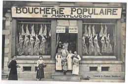 MONTLUCON - Devanture De La Boucherie Populaire - Montlucon