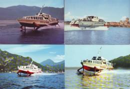 Hovercrafts, Cabin Cruiser, Motor Boats 12 Postcards - Hovercraft