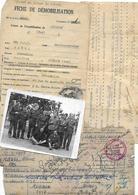 Lot De 4 Documents Soldat  Prisonnier Français Stalag III B  Guerre 40-45 Avignon - Dokumente