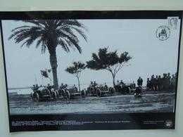 AUSTRO DAILMER SASCHA TARGA FLORIO 1922 TERRACCHIO TERMINI IMERESE PHOTO PORSCHE MUSEUM Annullo Poster Plastificato - Manifesti