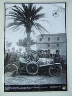 AUSTRO DAILMER SASCHA TARGA FLORIO 1922 TERRACCHIO TERMINI IM. PHOTO PORSCHE MUSEUM REUBAU Annullo Poster Plastificato - Manifesti