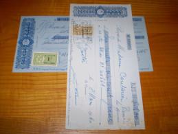 Timbre Fiscal Algérie Française: 50c & 1f Impôt Du Timbre . 1940 & 1945 Crédit Foncier D'Algérie & Tunisie - Timbres