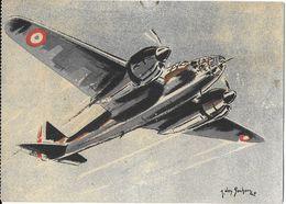TRANSPORT AVION AVIATION MILITAIRE 5 AMIOT 354 BOMBARDEMENT ILLUSTRATEUR J. DES GACHONS - 1946-....: Moderne