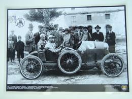 AUSTRO DAILMER SASCHA TARGA FLORIO 1922 TERRACCHIO TERMINI PHOTO PORSCHE MUSEUM FRITZ Annullo Targa Poster Plastificato - Manifesti
