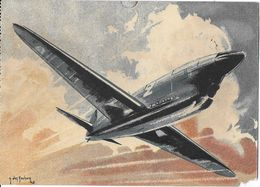 TRANSPORT AVION AVIATION 6 CAUDRON GROUPE DEUTSCH COURSE ILLUSTRATEUR J. DES GACHONS - 1946-....: Moderne