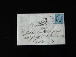 LETTRE DE BOLBEC POUR BRETEUIL SUR ITON  -  1858  - - 1801-1848: Précurseurs XIX