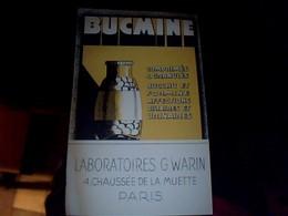 Publicitée Tract  Carton  Produit Pharmaceutique  Medicament  Bucmine Affections Biliaires.. Laboratoires  Warin Paris - Publicités