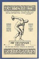 CPA Jeux Olympiques Paris 1924 Non Circulé - Giochi Olimpici