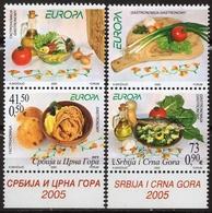 Food Tomato Olive Onion Fish Garlic LABEL CINDERELLA VIGNETTE Yugoslavia Serbia Montenegro 2005 Europe Europa CEPT - Food