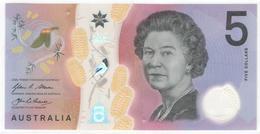 Australia 5 Dollar 2016 P62 UNC - Emissions Gouvernementales Décimales 1966-...