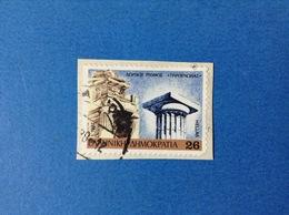 1987 PATRIMONIO 26 GRECIA HELLAS FRANCOBOLLO USATO STAMP USED - Grecia