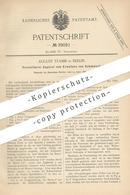 Original Patent - August Stamm , Berlin , 1886 , Apparat Zum Erweitern Von Schuhwerk   Schuhe , Schuster , Schuh !! - Historische Documenten