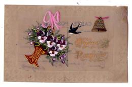 """3157 - Fantaisie - Cp En Celluloïd Peinte - """" Joyeuses Pâques """" - - Cartes Postales"""
