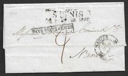 1838 LAC Précurseur REUNION - ST. DENIS A NANTES - PAYS D'OUTREMER - Peu Commun - 1801-1848: Précurseurs XIX